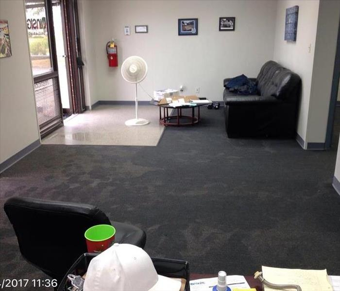 Flooded Office in Indianapolis, IN Before