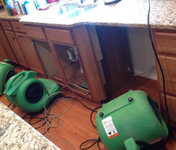 Kitchen Water Damage in Indianapolis, IN Before